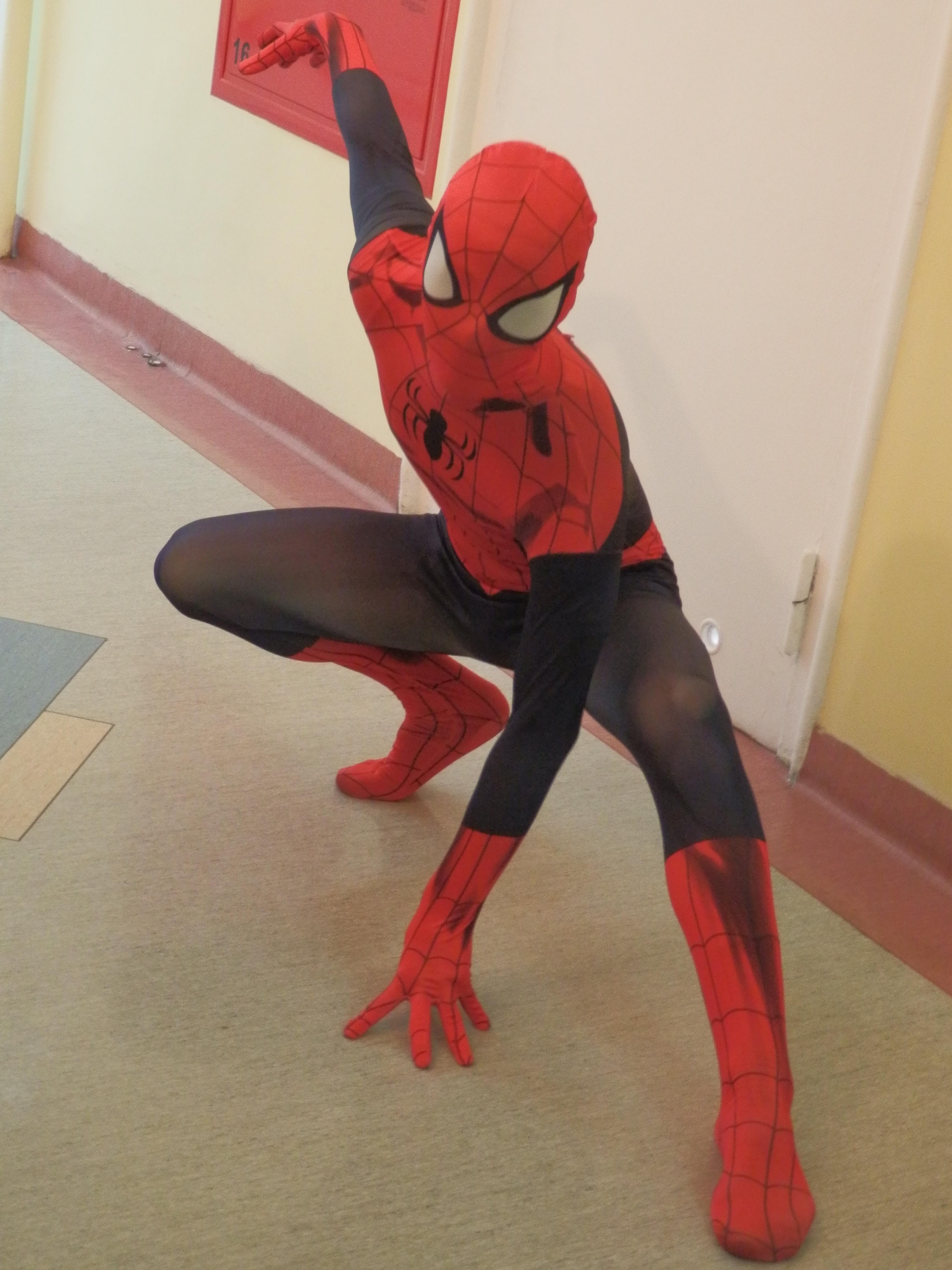 Spiderman w Szpitalu Zdrowie w Kwidzynie